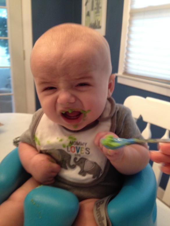 Baby Eating Peas